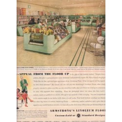 "1937 Armstrong Floors Vintage Advertisement ""Grauel's Market"""