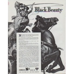 "1942 Conoco Ad ""Black Beauty"""