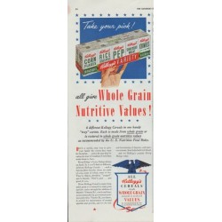 "1942 Kellogg's Ad ""Whole Grain Nutritive Values!"""