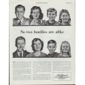 "1942 John Hancock Life Insurance Company Ad ""No two families are alike"""