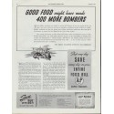 "1942 A&P Ad ""Good Food might have made 400 More Bombers"""