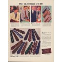 "1937 Arrow Ties Ad ""What Color Should a Tie Be?"""