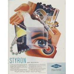 "1942 Dow Chemical Ad ""Styron (Dow Polystyrene)"""