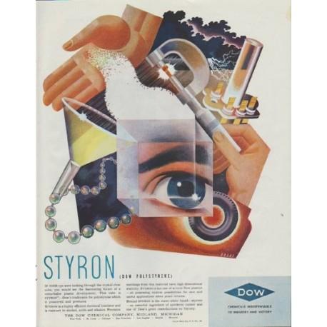 "1942 Dow Chemical Ad ""Styron (Dow Polystyrene)"""