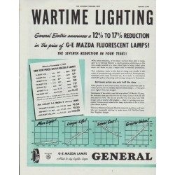 "1942 General Electric Ad ""Wartime Lighting"""