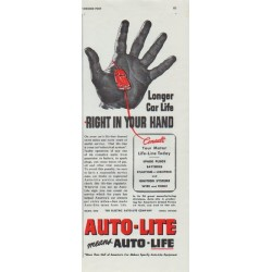 "1942 Auto-Lite Ad ""Longer Car Life"""