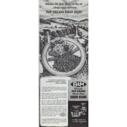 "1942 B & M Ad ""New England Baked Beans"""