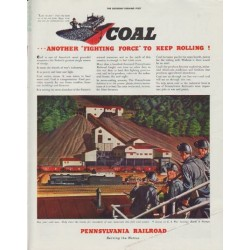 "1942 Pennsylvania Railroad Ad ""Coal"""