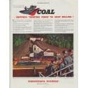 "1942 Pennsylvania Railroad Ad ""Coal"""