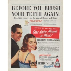 "1942 Teel Ad ""Before you brush"""
