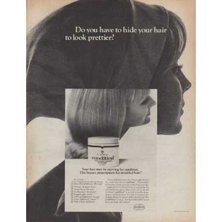 """1967 Clairol Ad """"Do you have to hide your hair ...?"""""""