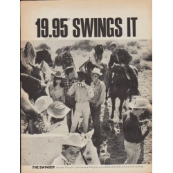 "1967 Polaroid Ad ""19.95 Swings It"""