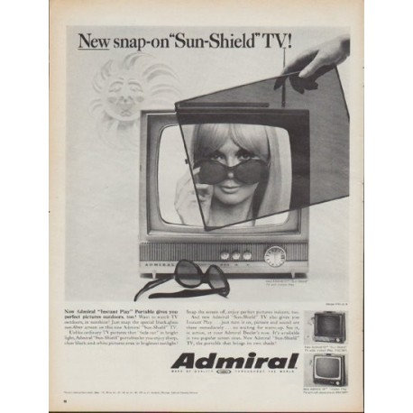 """1967 Admiral Television Ad """"New snap-on"""""""