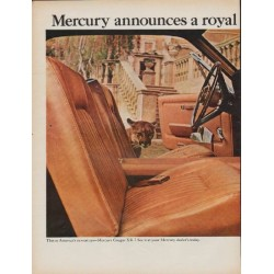 "1967 Mercury Cougar Ad ""a royal new Cougar"""