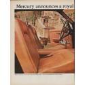 """1967 Mercury Cougar Ad """"a royal new Cougar"""""""