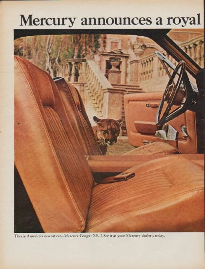 1967 mercury cougar vintage ad quot a royal new cougar quot