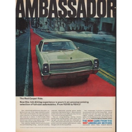 "1967 American Motors Ad ""The Red Carpet Ride"""