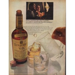 "1967 Seagram's Ad ""the Smooth Canadian"""