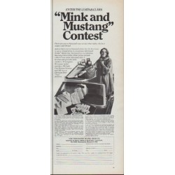 "1967 Coats and Clark Ad ""Mink and Mustang Contest"""