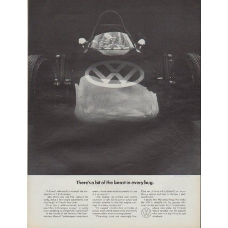"1967 Volkswagen Ad ""There's a bit of the beast in every bug"""