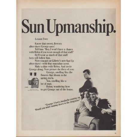 "1967 Gillette Ad ""Sun Upmanship"""