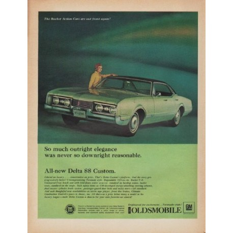 """1967 Oldsmobile Ad """"So much outright elegance"""""""