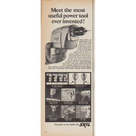 """1967 Skil Ad """"Meet the most useful power tool ever invented!"""""""