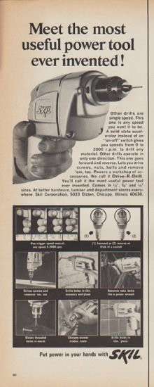 1967 Skil Vintage Ad Quot Meet The Most Useful Power Tool Ever