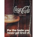 "1967 Coca-Cola Ad ""For the taste you never get tired of"""
