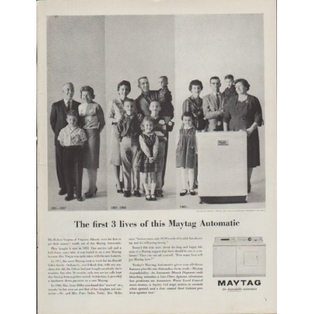 "1962 Maytag Ad ""The first 3 lives"""
