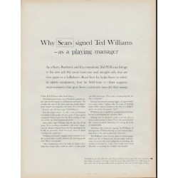 "1962 Sears Ad ""Why Sears signed Ted Williams"""