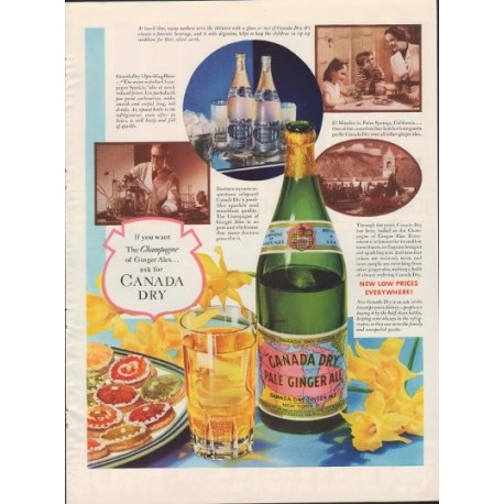 "1937 Canada Dry Ad ""Champagne of Ginger Ales"""