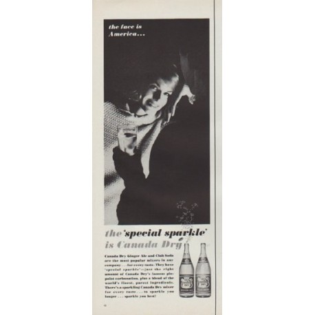 """1962 Canada Dry Ad """"special sparkle"""""""