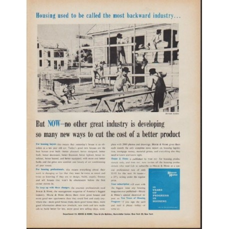 """1962 House & Home Ad """"the most backward industry"""""""