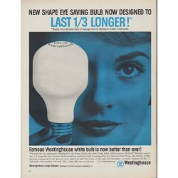 "1962 Westinghouse Ad ""New Shape Eye Saving Bulb"""