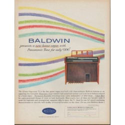 "1962 Baldwin Ad ""presents a new home organ"""