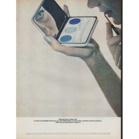 "1962 Faberge Ad ""Eye Colour Kit"""