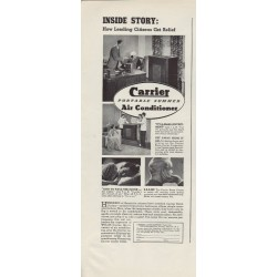 "1937 Carrier Air Conditioner Ad ""Leading Citizens"""