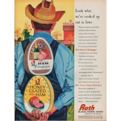 "1962 Rath Ad ""Look what we've cooked up out in Iowa"""