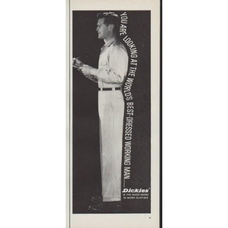 """1962 Dickies Ad """"Best-Dressed Working Man"""""""