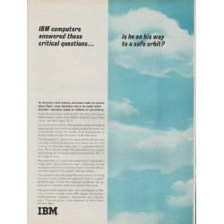 "1962 IBM Ad ""IBM computers answered these questions"""
