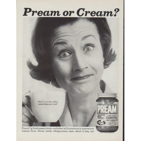 "1962 Pream Ad ""Pream or Cream?"""