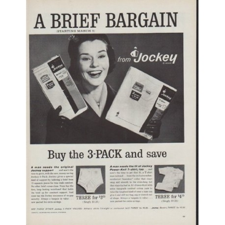 "1962 Jockey Ad ""A Brief Bargain"""