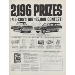 """1962 d-CON Ad """"2,196 PRIZES"""""""