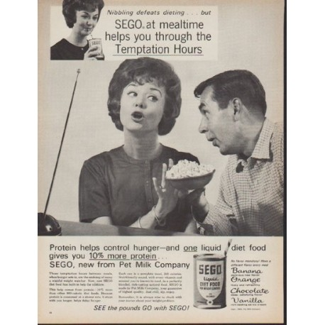 "1962 Sego Ad ""Nibbling defeats dieting"""
