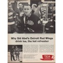 "1962 Tea Council of the U.S.A. Ad ""Detroit Red Wings"""