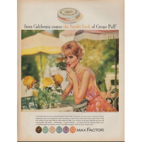"""1962 Max Factor Ad """"the Sunlit Look"""""""