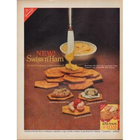 """1962 Nabisco Ad """"New! Swiss n' Ham"""""""