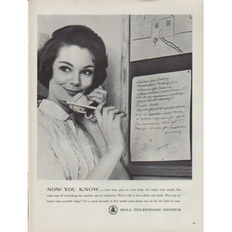 "1962 Bell Telephone System Ad ""Now You Know"""