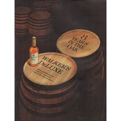 "1962 Walker's DeLuxe Bourbon Whiskey Ad ""8 Years"""